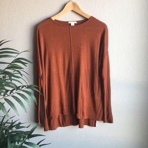 Burnt orange long-sleeve work shirt size xs